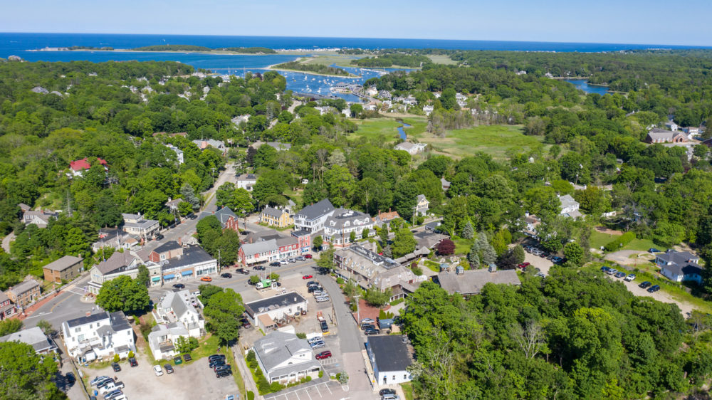 Aerial view of Cohasset, MA